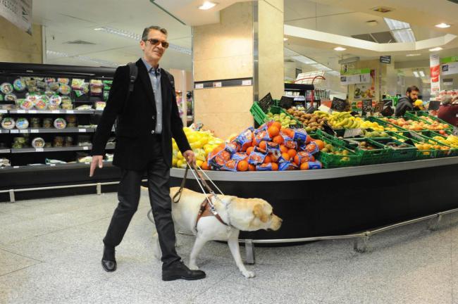 Perros guía permiten a diez personas ciegas ser autónomas durante el confinamiento en Almería