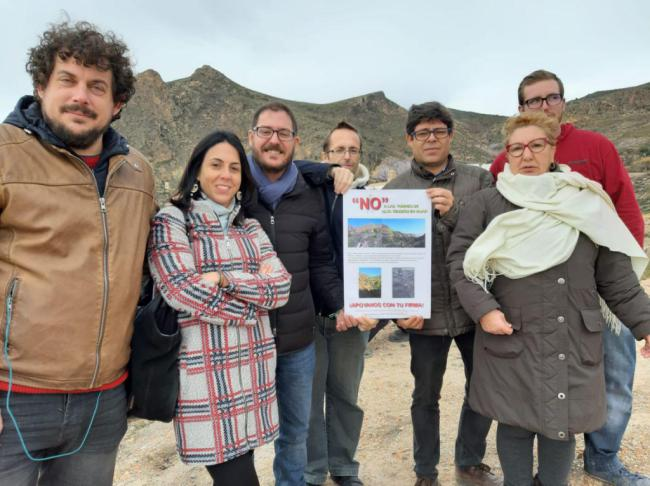 Adelante Andalucía contra el proyecto del tendido eléctrico de Huebro en Níjar
