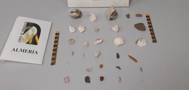 La Policía autonómica localiza un yacimiento del Paleolítico en la Sierra Alhamilla