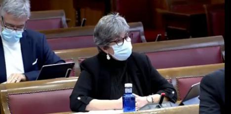 La senadora andalucista defiende el mantenimiento del empleo en Carboneras