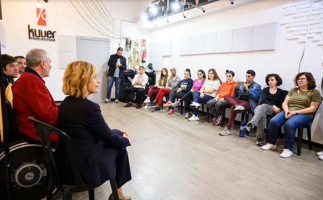Telmo Irureta comparte los secretos de actor con discapacidad en un taller del 'Plano Inclusivo'