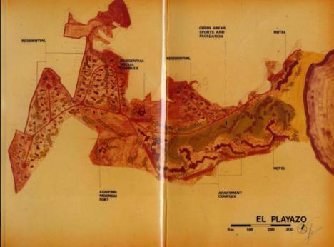 Así habría sido el Playazo de Rodalquilar de urbanizarse en los años 70