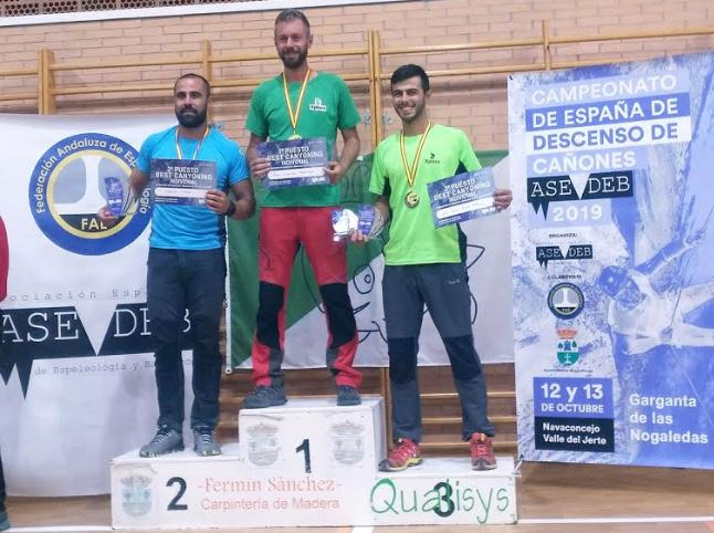 Los almerienses Raúl Gallego y Juan J. Ruano logran cuatro medallas en el Campeonato de Descenso de Cañones