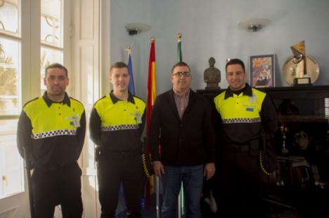 Continúa la formación de los tres nuevos policías municipales de Carboneras