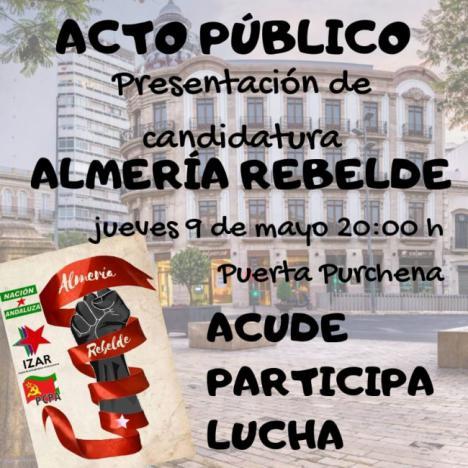 Almería Rebelde presenta su candidatura a la Alcaldía