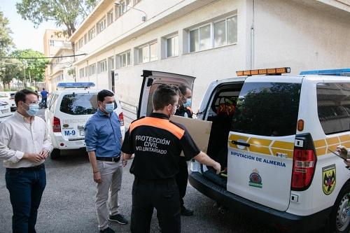 Diputación inicia el tercer reparto de EPIS y mascarillas a 98 municipios