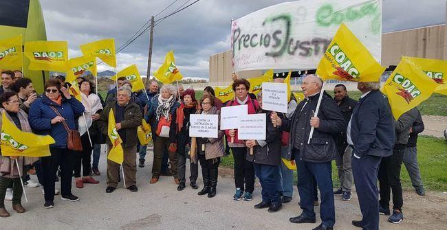 COAG Almería acude a la protesta de Málaga por los precios