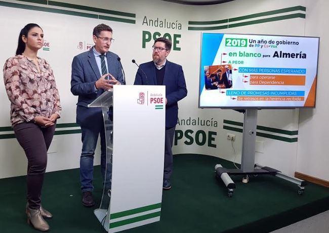 """El PSOE asegura que el primer año de PP-Cs """"ha pasado en blanco"""" para Almería"""