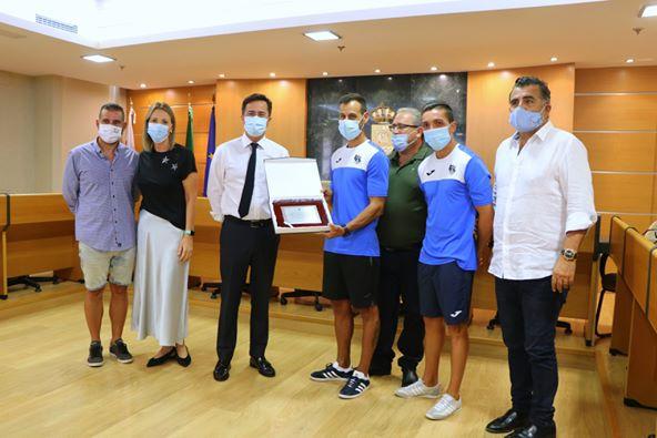 Recepción municipal del CD El Ejido y CD El Ejido Futsal