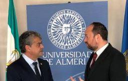 Ramón Herrera analiza con el rector la financiación universitaria