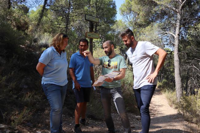 Ayuntamiento de Berja y Diputación repararán senderos de la Sierra de Gádor