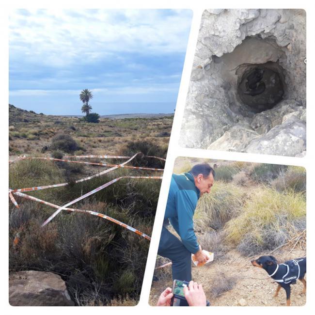 """La Guardia Civil rescata a un perro y cuatro jabalíes de un pozo de diez metros en """"Paraje Cerro Lobos"""""""