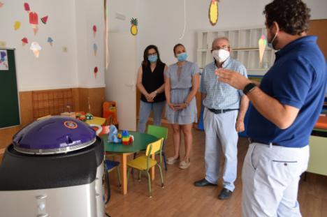 Alta tecnología contra el #COVID19 en la Escuela Infantil De La Gangosa