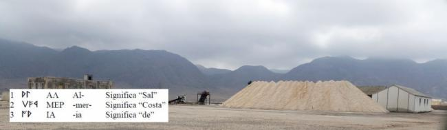 """¿Significa Almería """"costa de la sal""""?"""