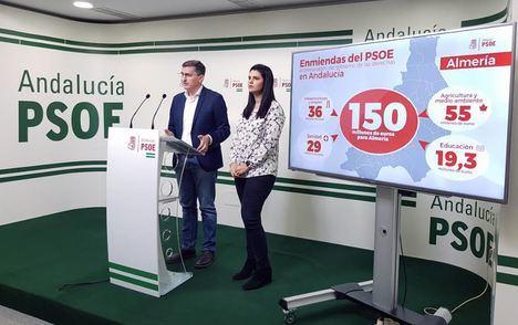 El PSOE presenta enmiendas por 150 millones de euros para Almería