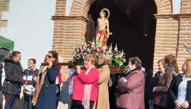 El barrio de la Ermita de San Sebastián celebra su patrón