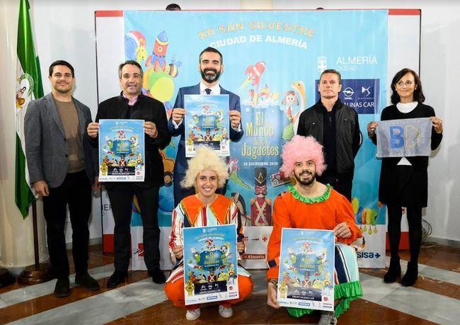 Los juguetes tomarán la ciudad en la XII San Silvestre de Almería