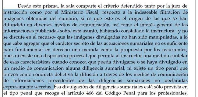La Audiencia de Almería no ve delito en la difusión de las imágenes de las cámaras del centro de menores de Purchena