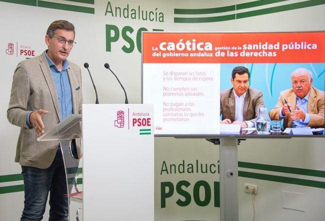 El PSOE dice que el PP gasta más en sanidad pero la lleva al caos