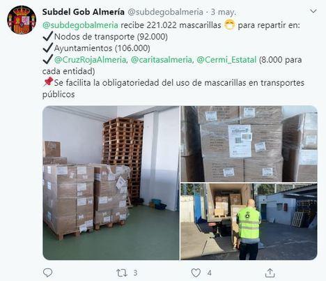 El Gobierno de Sánchez dice ahora que no sabe nada de las mascarillas repartidas en Almería