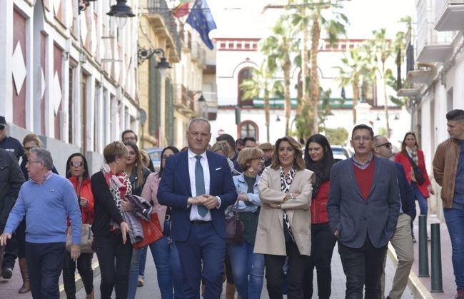 Susana Díaz destaca el compromiso de Pedro Sánchez con la desaladora de Cuevas