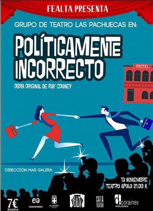 Políticamente Incorrecto', nueva obra del Programa Estable de Teatro Aficionado