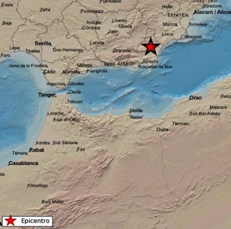 Registrado un terremoto de magnitud 2,6 en Albox