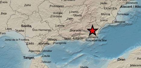Terremoto en Lubrín y Benitagla