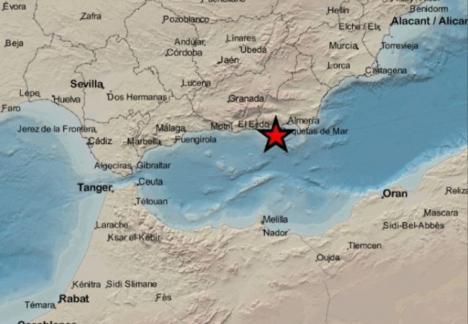 Terremoto de magnitud 3,2 con epicentro en La Mojonera