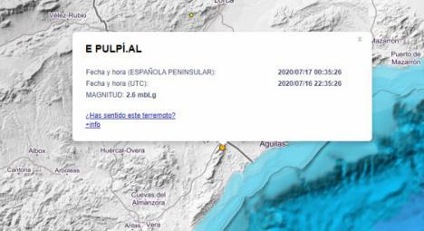 Terremoto en Pulpí de magnitud 2,6