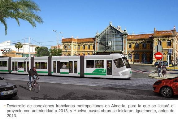 La Junta de Chaves tiró 600.000 euros en el tranvía de Almería