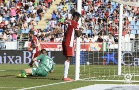Tres derrotas y dos empates, los números rojos del Almería las últimas cinco jornadas