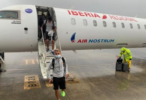 El Almería regresó tras el partido y tendrá descanso este lunes