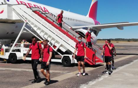 El Almería regresa este sábado de Ponferrada y entrenará por la tarde en el Estadio