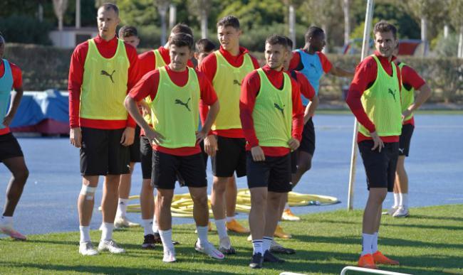 Último entrenamiento antes de afrontar el partido contra el CD Castellón