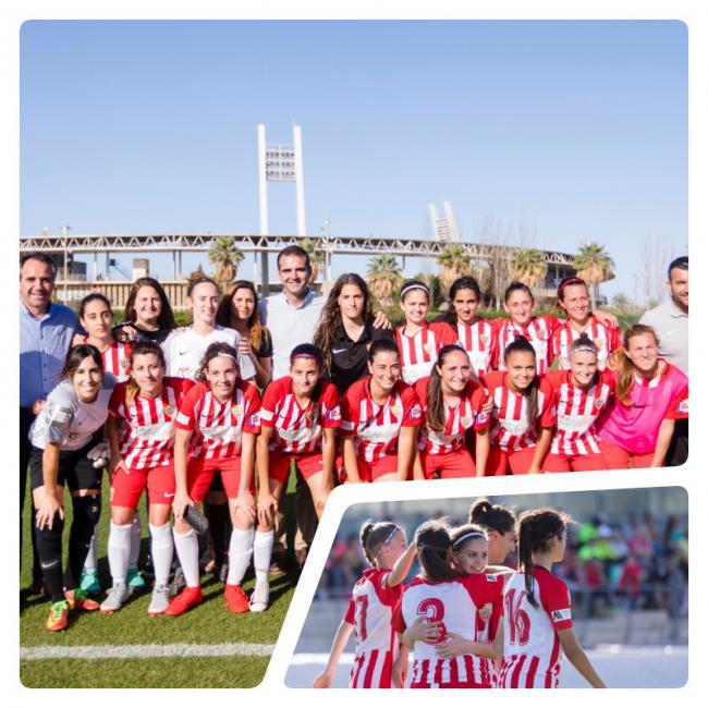 El alcalde felicita a las jugadoras de la UDAlmería Femenino