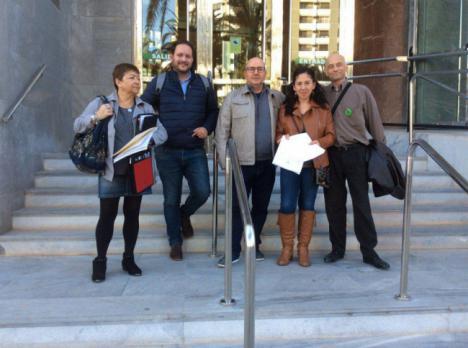 Unidas Podemos registra en Almería candidaturas al Congreso y Senado con Raquel Martínez y Begoña Rojas