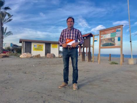 Ciudadanos responsabiliza al alcalde de Cuevas por la pérdida de dos banderas azules