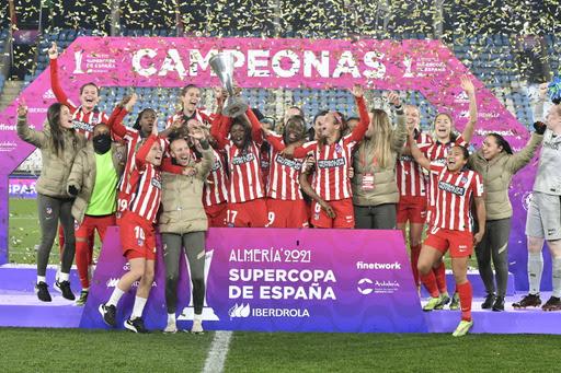 Atlético de Madrid es campeón de la Supercopa de España de fútbol femenino