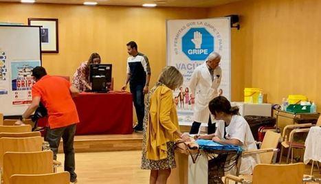 Trabajadores de la Delegación de Salud se vacunan contra la gripe