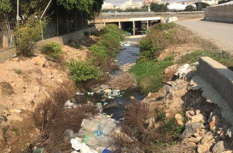 Vertido de aguas residuales en el Paraje Castañeda de El Ejido