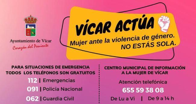 Vícar Abre Canales De Atención A Víctimas De Violencia De Género Durante El Confinamiento