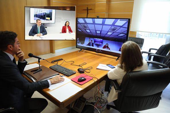 El alcalde de El Ejido participa en una videconferencia con el Jefe del Estado