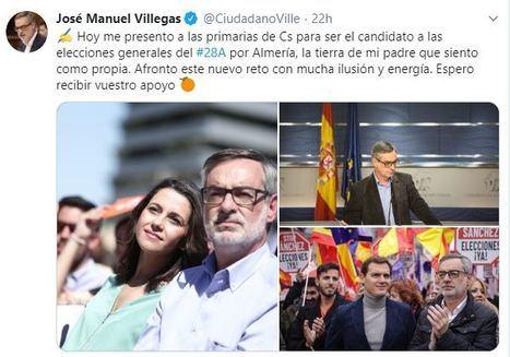 Villegas anuncia en Twitter su candidatura a las primarias de Almería