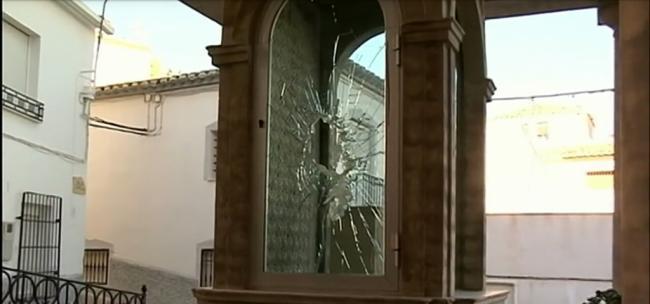 Vandalismo contra la talla de la Virgen del Carmen de Purchena