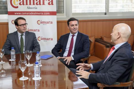 García califica a la Cámara como el mejor interlocutor con las 50.000 empresas de Almería