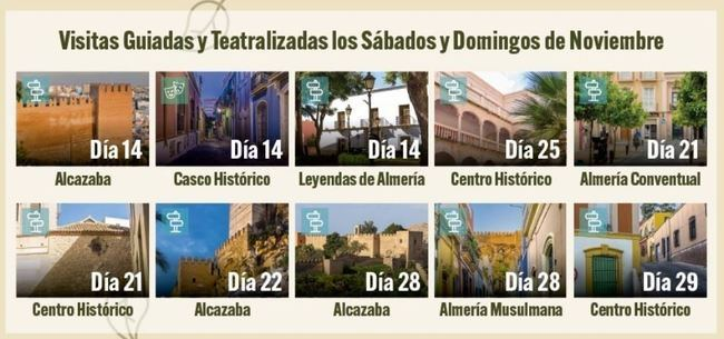 15 visitas guiadas en noviembre al patrimonio almeriense
