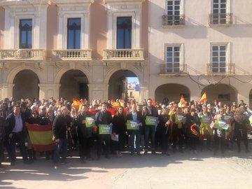 La España de Vox reune menos almerienses que los árboles de la Plaza Vieja