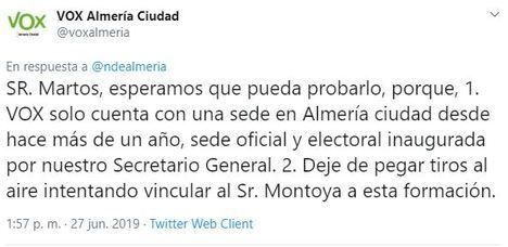 """A Vox se le olvida que ha tenido """"sede electoral"""" en Almería"""