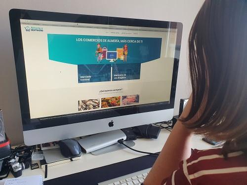 El portal 'almeriaadomicilio' registra 170 comercios y más de 2.000 visitas